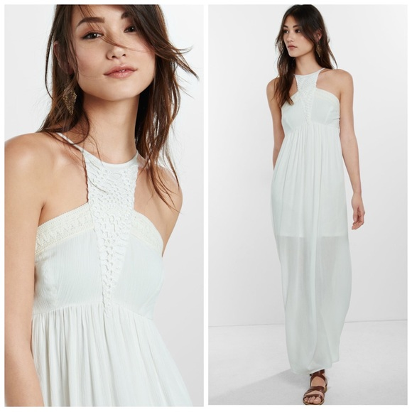 Express Dresses & Skirts - 🆕 EXPRESS CROCHETED CUT-IN CAMI MAXI DRESS SZ S